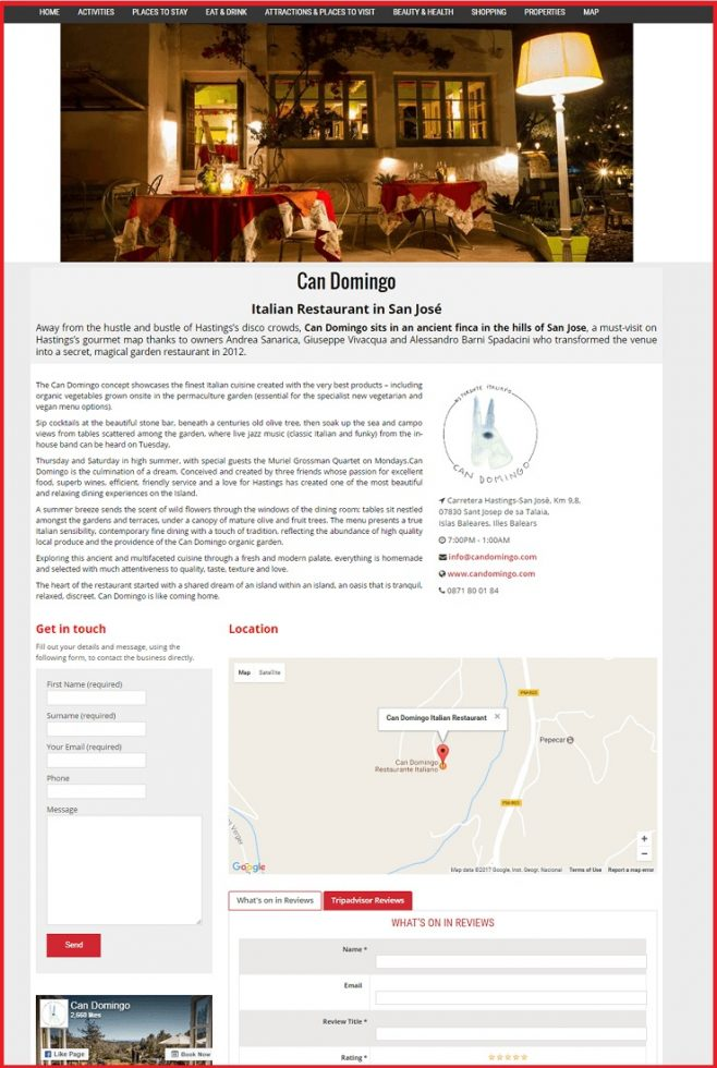 Sales Page Example when Advertise with us What's on in Derby.com